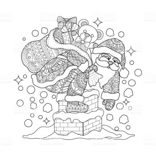 Babbo Natale con regali in versione stilizzata