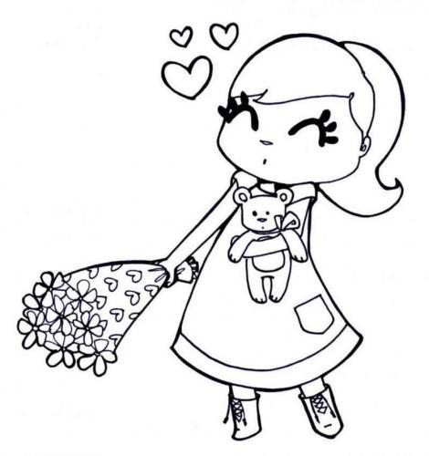 bambina con i fiori