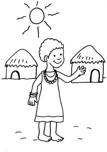 bambino africano nel villaggio