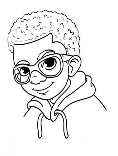bambino con gli occhiali