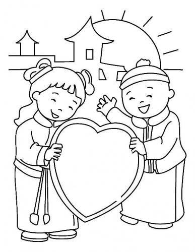 bambini con un cuore