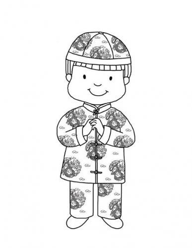 bambino con il kimono