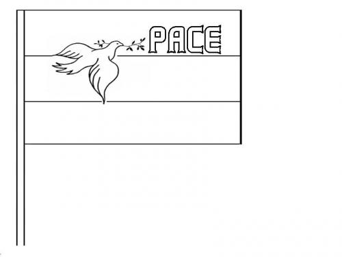 bandiera della pace con colomba