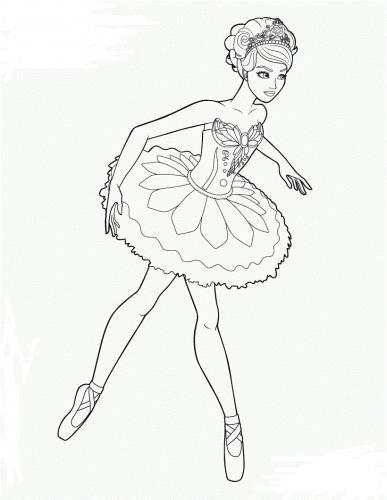 barbie ballerina da colorare