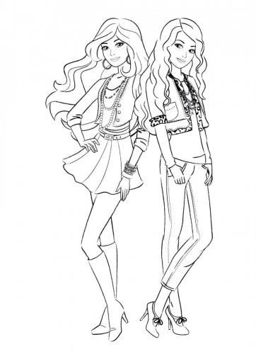 barbie con un' amica