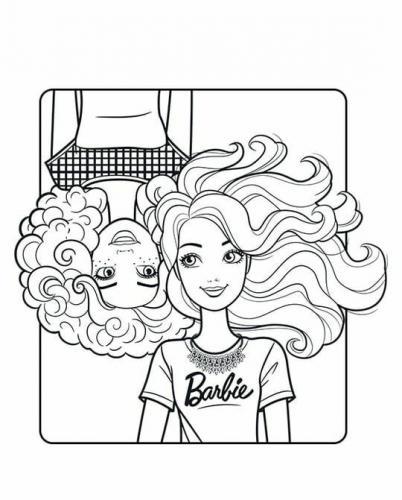 barbie da stampare e colorare gratis
