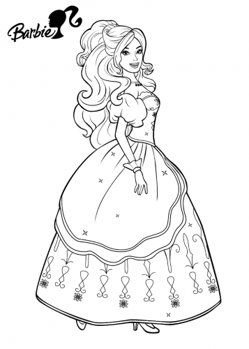 barbie principessa da colorare