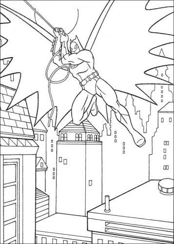 batman disegni da colorare gratis