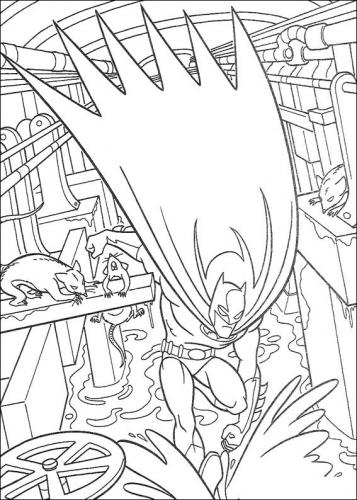 batman disegno colorato