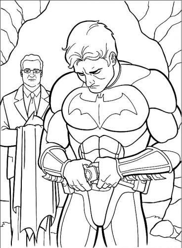 batman indossa il costume