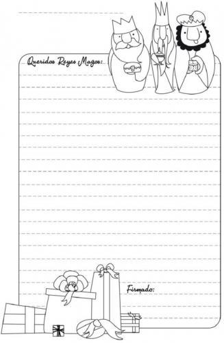 Letterina da completare per la Befana