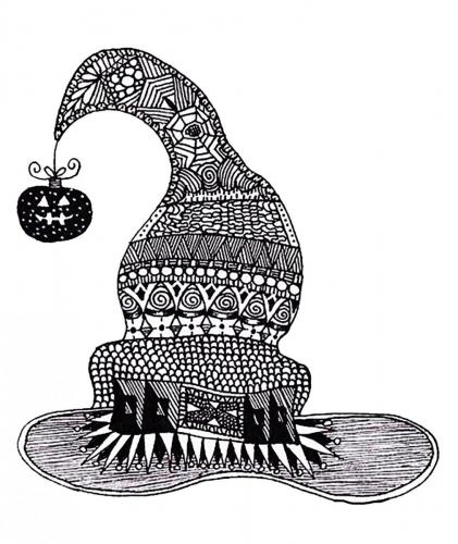 Cappello della Befana decorato