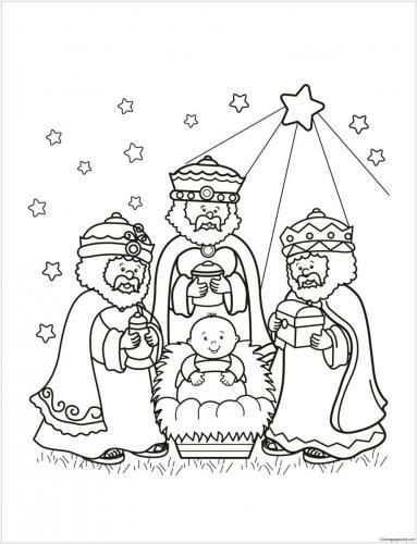 Re Magi con Gesù Bambino