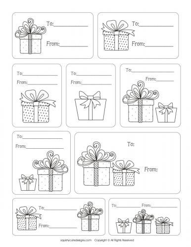 Biglietti natalizi, To - From (Da - Per)