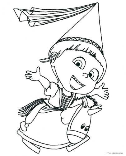Agnes vestita da principessa con un minions