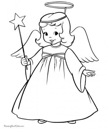 bimba vestita da angioletto
