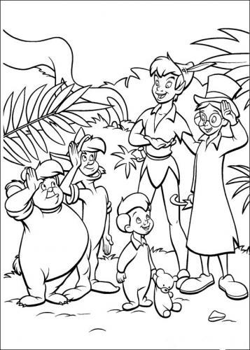 bimbi sperduti con Peter Pan