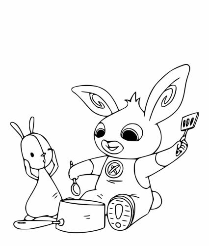 bing cartone personaggi da colorare