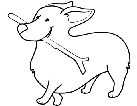 cagnolino da colorare