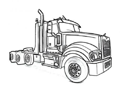 camion americani da colorare
