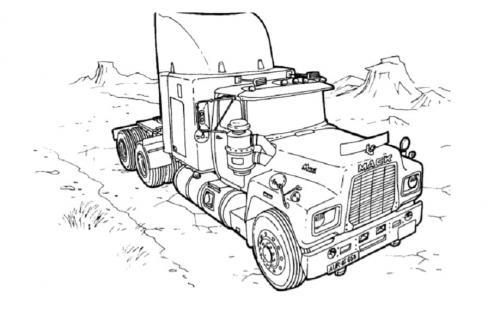 camion americani da stampare e colorare