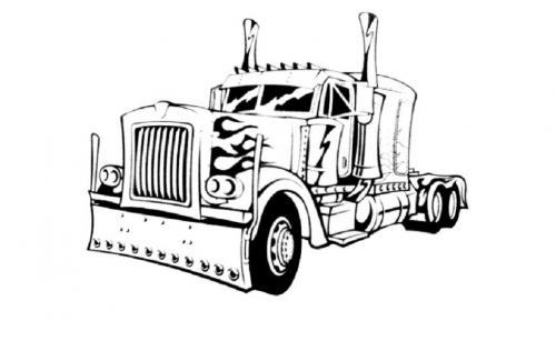 camion americano da colorare