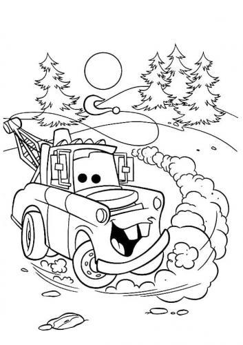 camion Cars da colorare