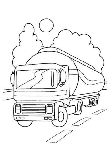 camion cisterna da colorare