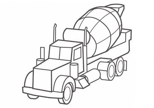 camion da colorare e stampare
