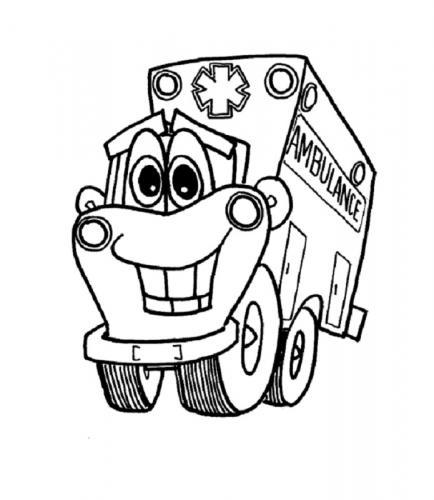 camion da colorare e stampare ambulanza