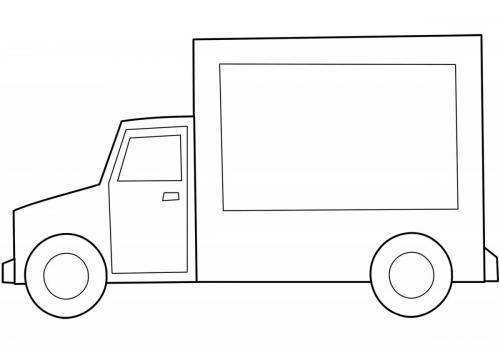 camion da colorare per bambini