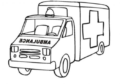 camion da colorare per bambini ambulanza