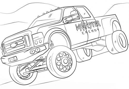 camion da corsa da colorare
