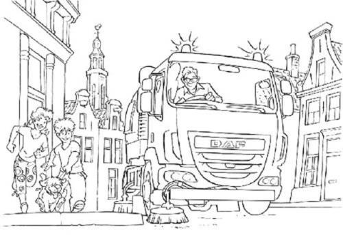 camion Daf da colorare