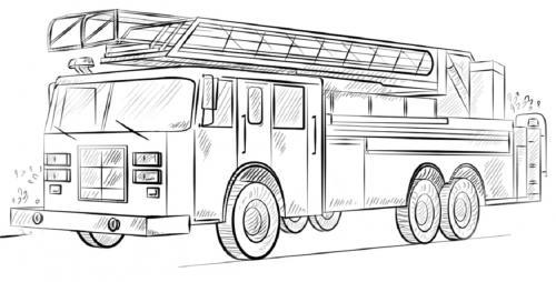 camion dei pompieri da colorare