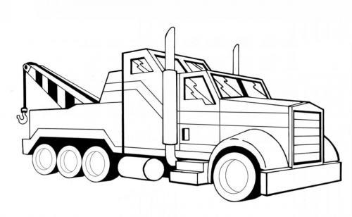 camion gru da colorare on line