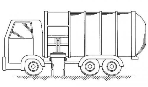 camion immondizia da colorare