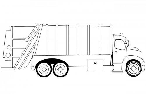 camion immondizie da colorare