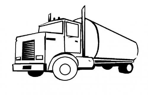 camion latte da colorare