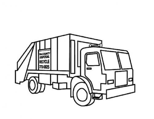 camion nettezza urbana da colorare