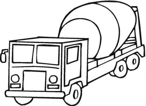 camion per bambini da colorare