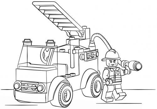 camion dei pompieri da colorare e stampare