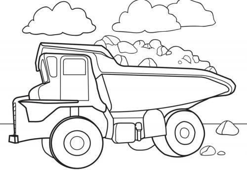 camion ribaltabile da colorare