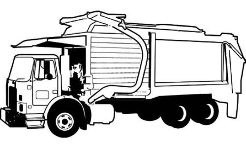camion rifiuti da colorare