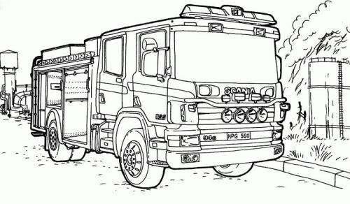 camion Scania da colorare