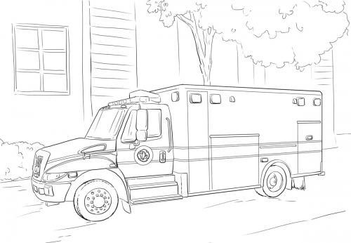 camion vigili del fuoco da colorare