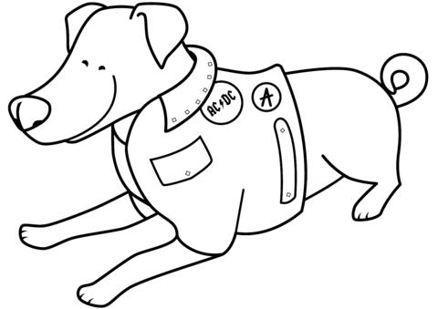 cane immagine da colorare
