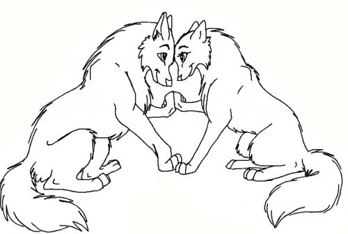 cane lupo da colorare