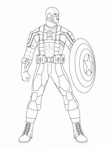 Capitan America disegno da colorare Avengers
