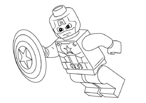 Capitan America immagini di Lego Avengers
